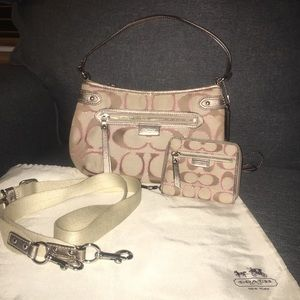 Coach Purse and Matching Wallet Set